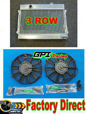 "new 3Row 52mm Aluminum Radiator & Twin 7"" Thermo Fan for Datsun 1600 Manual MT"
