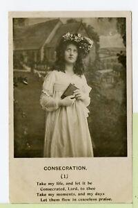 VINTAGE 1906 RPPC POSTCARD ~ UDB ~ REAL PHOTO ~ CONSECRATION (1) ~ BAMFORTH