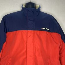 Tommy Hilfiger Winter Jacket Coat Mens XL Red Blue Retro 2001 Rubber Patch