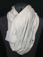 Lululemon Twist And Shout Scarf White Burnout Scale Infinity Scarf Sheer HTF