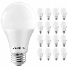 16x Luxrite A19 LED Bulb 100W Equivalent 5000K Enclosed Fixture Rated 1600lm E26