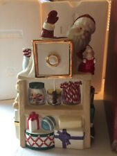 Lenox Holiday Village Musical Candy Box Santa Christmas Cookie Jar Jingle Bells