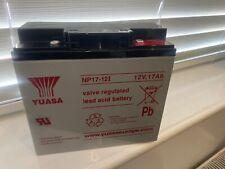 NP17-12 Yuasa 12 volt 17Ah Rechargeable NP17-12i 12V lead acid battery