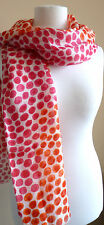Tommy Hilfiger ladies scarf cream orange red animal spots NEW womens wrap dots