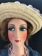 Antique Original Beautiful French Silk Head Doll Original Outfit 29 Inches Tall