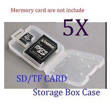 5pcs Cellphone Camera Memory Micro SD&TF Card Plastic Storage Box Case Container