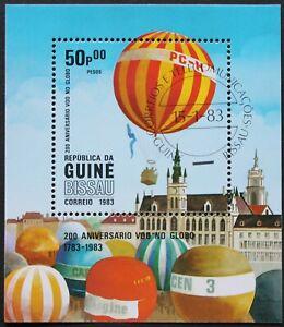 """Guinea-Bissau: Michel Block-Nr. 247 """"200 J. Luftfahrtgeschichte"""" aus 1983, gest."""