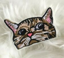 Cat Pocket Kitten Pet Embroidered Iron On Patch Appliqué
