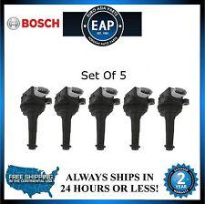 For C30 C70 S40 S60 V50 V60 V70 2.4 2.5 L5 Direct Ignition Coils Set Of 5 New