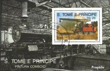 Sao Tome e Principe block213 (complete issue) used 1989 Locomot