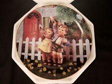 """Danbury Mint M J Hummel Little Companions Come Back Soon 8"""" Collectors Plate"""