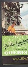Quebec Canada 1961 Brochure For True Hospitalite Vous Attend