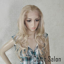 HAND TIED Synthetic Hair LACE FRONT FULL WIGS GLUELESS HEAT SAFE 92#613M27