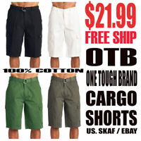 OTB One Tough Brand Men's NWT Classic Cargo Shorts $21.99 INCL. Free Shipping