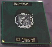 Intel Core 2 Duo 2.20GHz 800MHz T6600 Mobile 2M Cache Processor CPU SLGF5 Tested