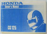 Honda CG125 post 1985 #MPKY0911UK Motorcycle Owners Handbook
