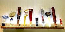 LIGHTED 10 BEER TAP HANDLE DISPLAY ** 3' Battery LED ** great gift kegerator