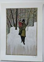 """Billy Childish """"In The Frozen Meadow""""  signed numbered one colour art print."""