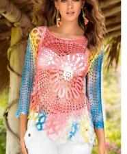 Awesome Boston Proper Multi Color Daring Crochet Sweater, XS 2-4, NEW