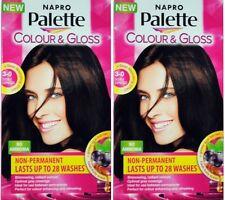 2 x NAPRO PALETTE COLOUR & GLOSS HAIR COLOUR 3-0 DOUBLE ESPRESSO 100% Brand New