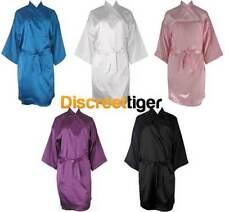 Polyester Patternless Kimono Sleepwear for Women