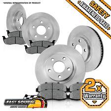 Front + Rear Brake Rotors Metallic Pads 2003 2004 2005 2006 2007 JEEP LIBERTY
