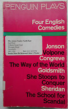 FOUR ENGLISH COMEDIES.JONSON-CONGREVE-GOLDSMITH-SHERIDAN.PENGUIN 1978