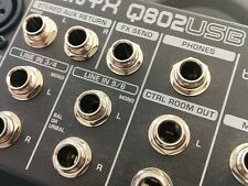 Behringer Xenyx Q802Usb Mixer Usb Audio interface 8 inputs