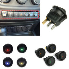 4Pc LED Dot Light 12V Car Auto Boat Round Rocker ON/OFF Toggle Switch Waterproof
