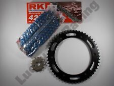 RK Blue Chain and JT sprocket kit standard gearing for Yamaha WR 125 R & X 09-17