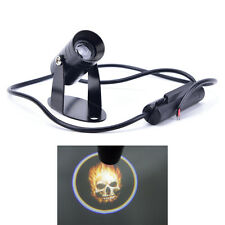 3D Universal Ghost Rider Flaming Skull Logo Motorcycle Projector LED Light1k