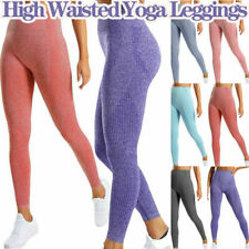 Women High Waist Yoga Leggings Seamless Stretch Fitness Sports Gym Run Trousers