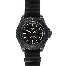 MWC Cuarzo Swiss GMT 300m Acero Inox PVD Negro Submariner NATO Gris Hombre Reloj