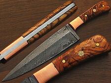 Custom Handmade Damascus Steel Chef Knife Olive Wood