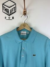 LACOSTE, Mens Size L, Blue, Small Logo, Slim Fit Polo Shirt,*EX COND*