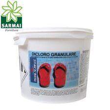 Dicloro 56% cloro granulare trattamento shock rapido acqua piscina Kg 1 5 10 25