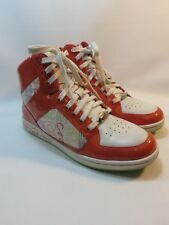 COACH Norra Orange Leather Textile High Tops Sneakers Women Size 8.5 Q366 COACH
