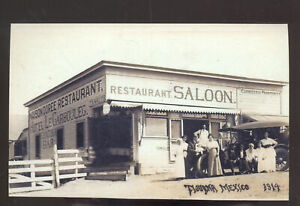 REAL PHOTO TIJUANA MEXICO RESTAURANT SALOON ADVERTISING POSTCARD COPY