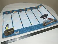 Kids A2 Week Wall Planner Pirate Club Themed Multiple Sheets Approx 10-20?  M136