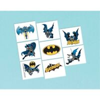 BATMAN 8 TATTOOS BIRTHDAY PARTY SUPPLIES