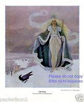 Schneekönigin XL Druck 1910 Moritz Bauernfeind † Volders Eisprinzessin Märchen