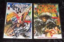 Chains of Chaos Lot of 2 #1 & #2 of 3 MINT Vampirella Harris Comics