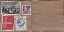 China - Used stamps on piece of paper. Mi nr.: 298+337+372+377. (Vg) Mv-4379