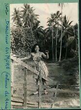 TAHITI c. 1940 - Danseuse en Moré - Ph. Nordmann - TC14