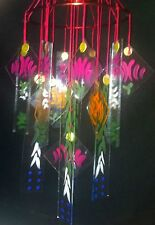 "Japanese Chinese Glass Wind Chime wind chimes Vintage Style larger 6"" diameter"