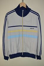 vtg 80s ADIDAS FIRST RARE CASUALS RETRO TRACK JACKET TRACKSUIT TOP SIZE MEDIUM