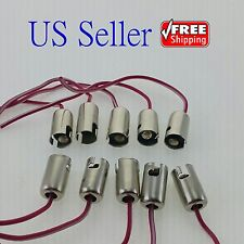 10x BA9S/T11 LED Light Bulb Socket Holder with wire connector for Car Truck