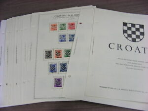 CROATIA, Excellent Stamp Collection hinged on Minkus Specialty pages