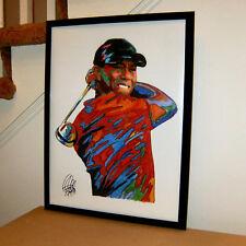 Tiger Woods Pro Golfer PGA Sports Poster Print Tribute Wall Art 18x24