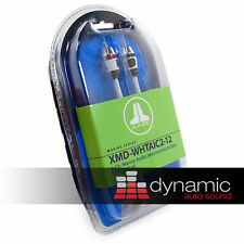 JL AUDIO XMD-WHTAIC2-12 Marine Boat 2 Channel Amp RCA Amplifier Cable 12ft. New